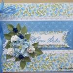 Album ślubny niebieski