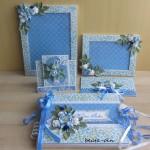 Różany projekt ślubny - niebieski